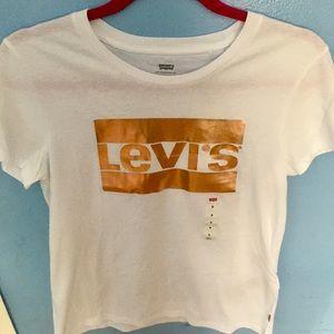 Metallic Levi's Logo Tee Shirt